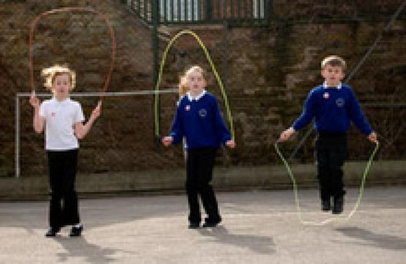 Skipping helps children discover more about movement...